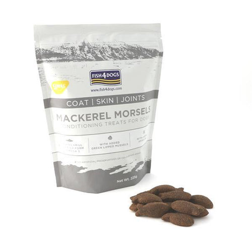 Fish 4 Dogs Mackerel Bites Large Bag 225g - The Collective Wolf