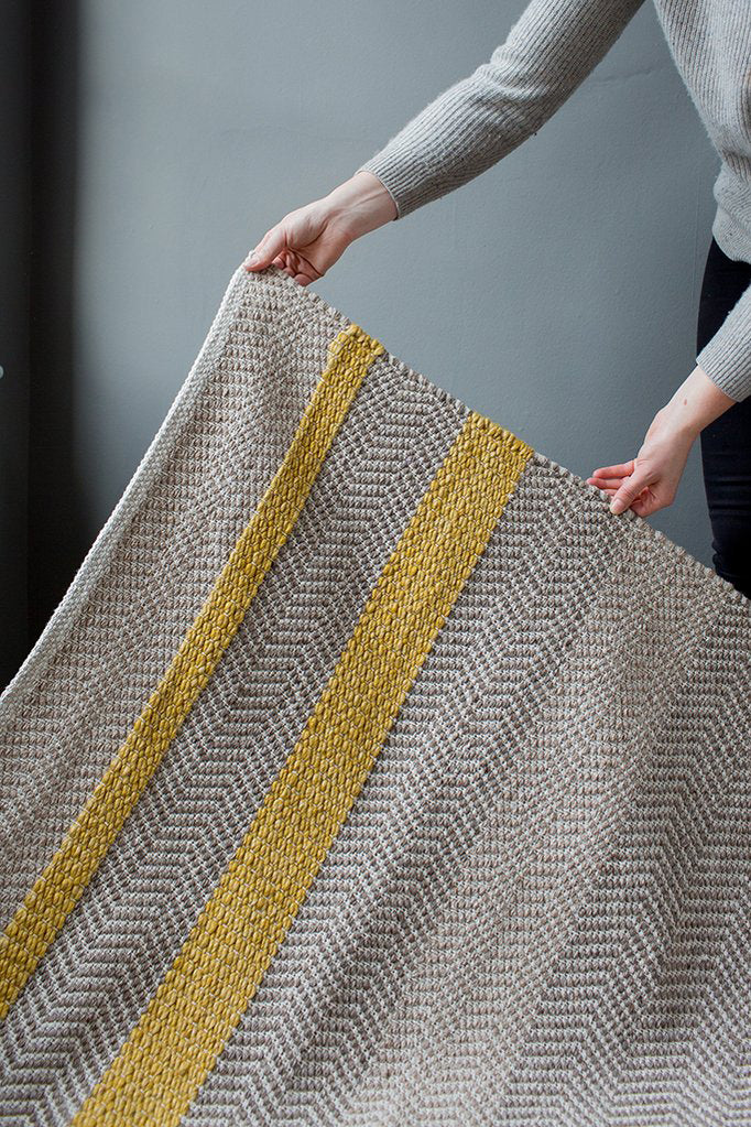 Flatwoven mustard rug back in stock.