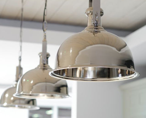 Nickel hanging pendant light