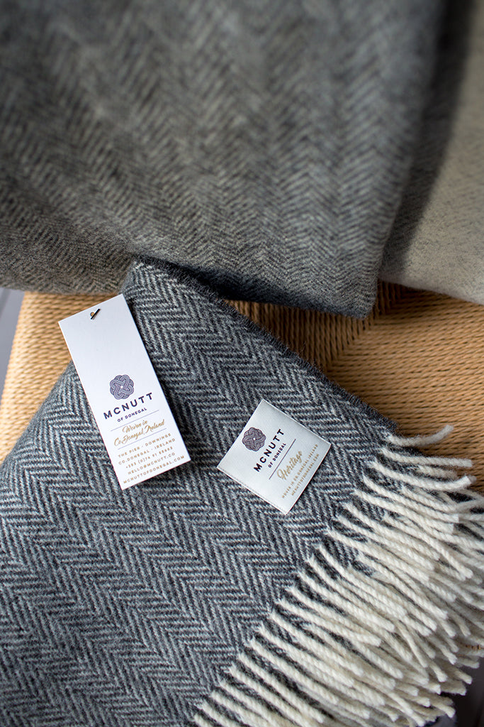 mc nutt wool throw charcoal