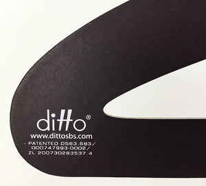 "17"" Multi-Use Ditto Hanger - BLACK / 10-Pack"