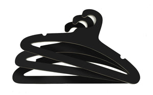 "17"" Ditto Multi-Use Hanger - BLACK / 50-Pack"