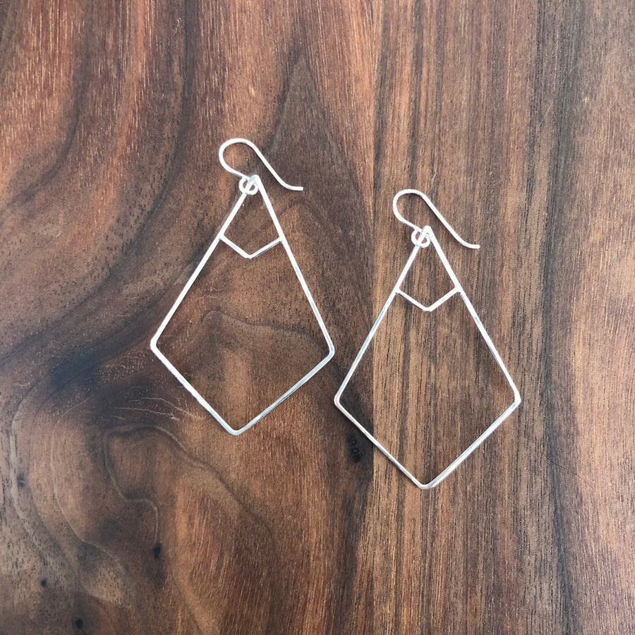 small double inset kite earring