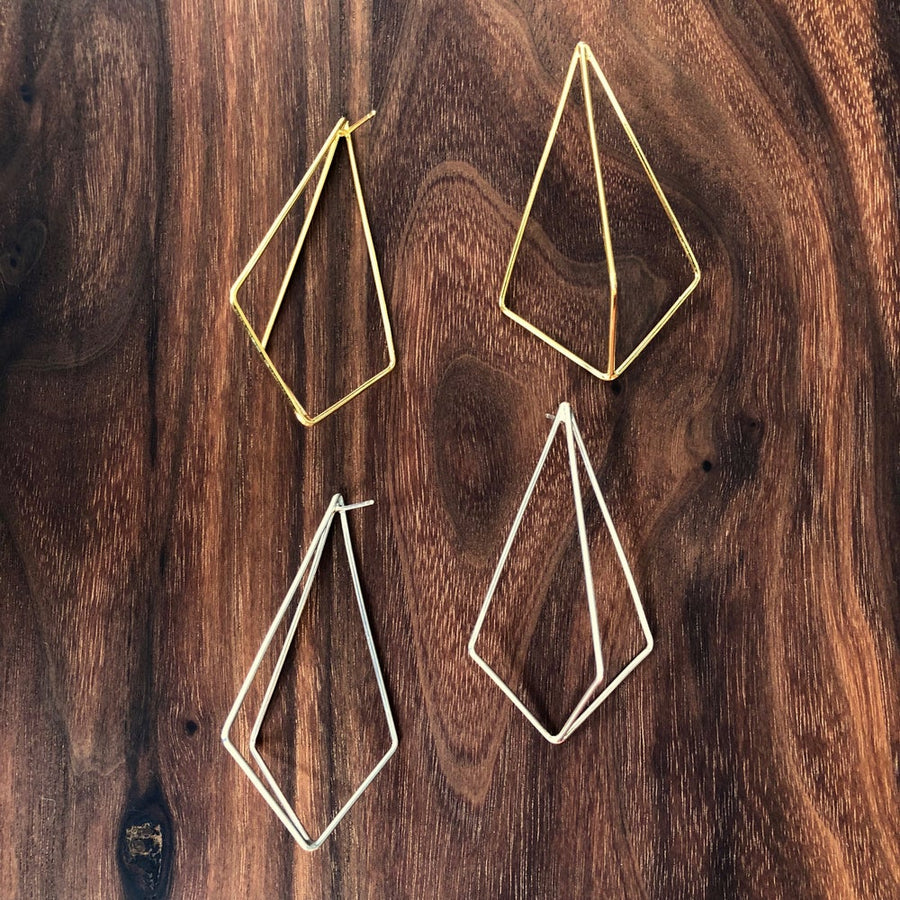 large kite post earrings