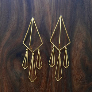 trio drop kite earring