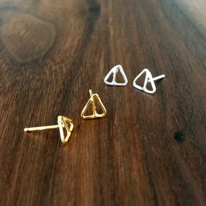 small double triangle stud
