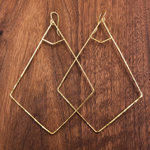 xl double inset kite earrings