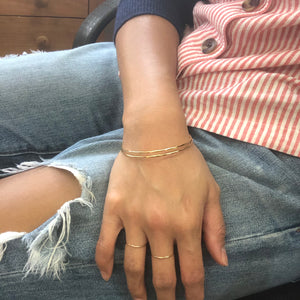 thin textured bangle - petite wrists