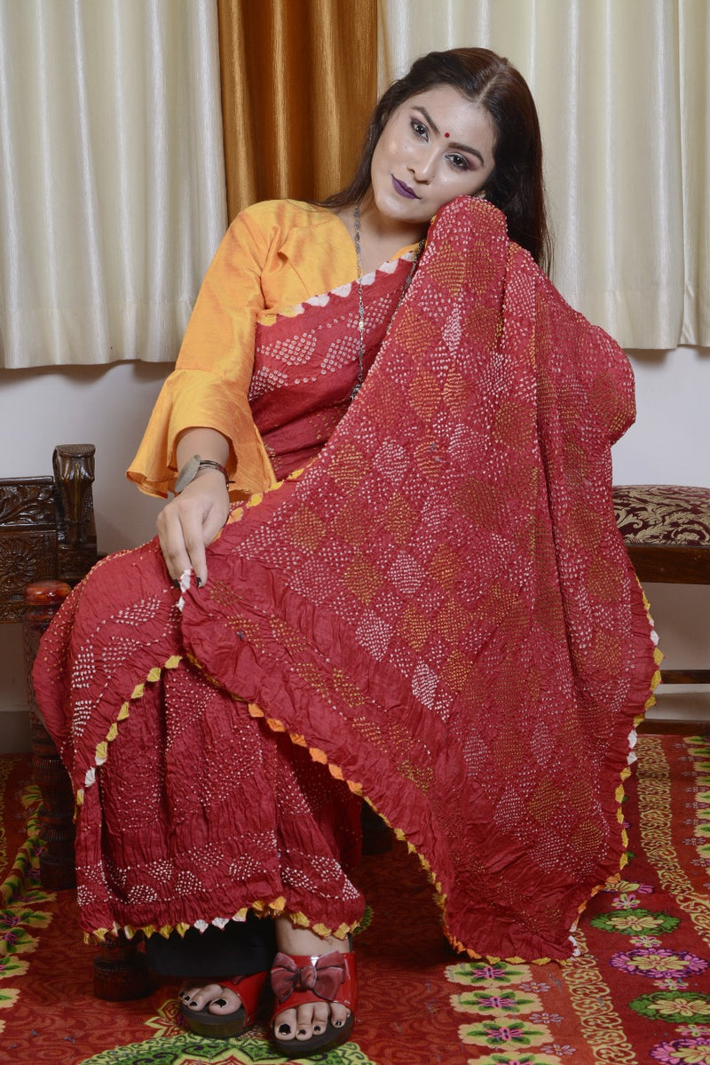 Munga Silk Multi Color Bharti Saree-005