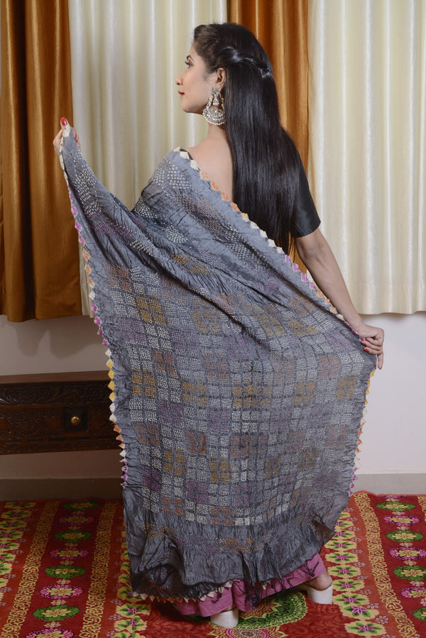 Munga Silk Multi Color Bharti Saree-004