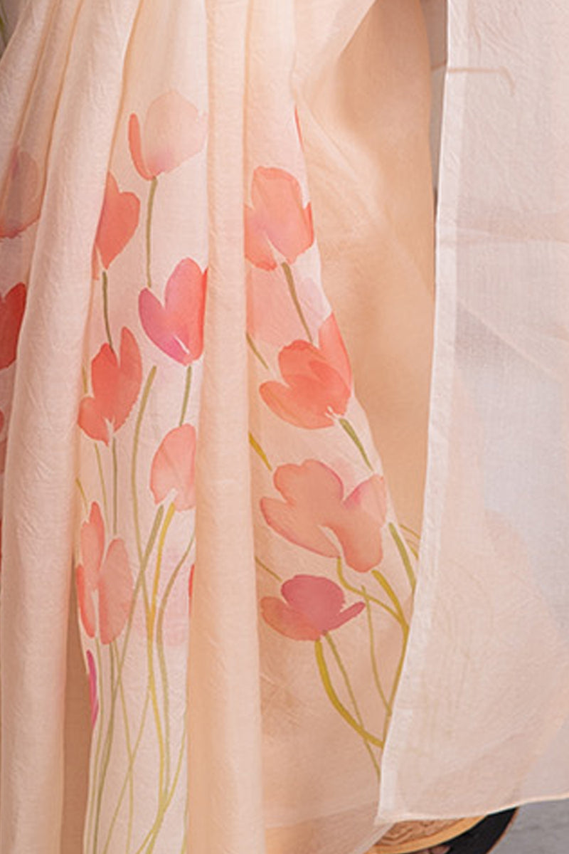 The Poppy Floral In Peach