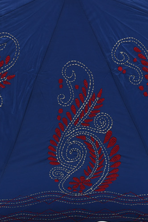 On Blue Red Paisley with White