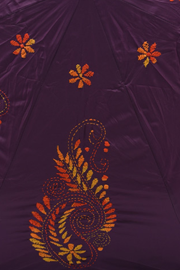 Violet and Orange Yellow Paisley
