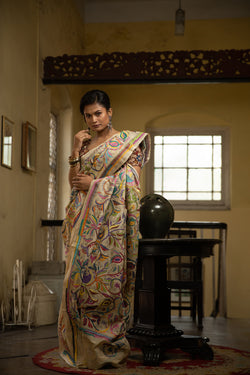 Off- White Kantha - Patterns With 22 shades (IL-425 )