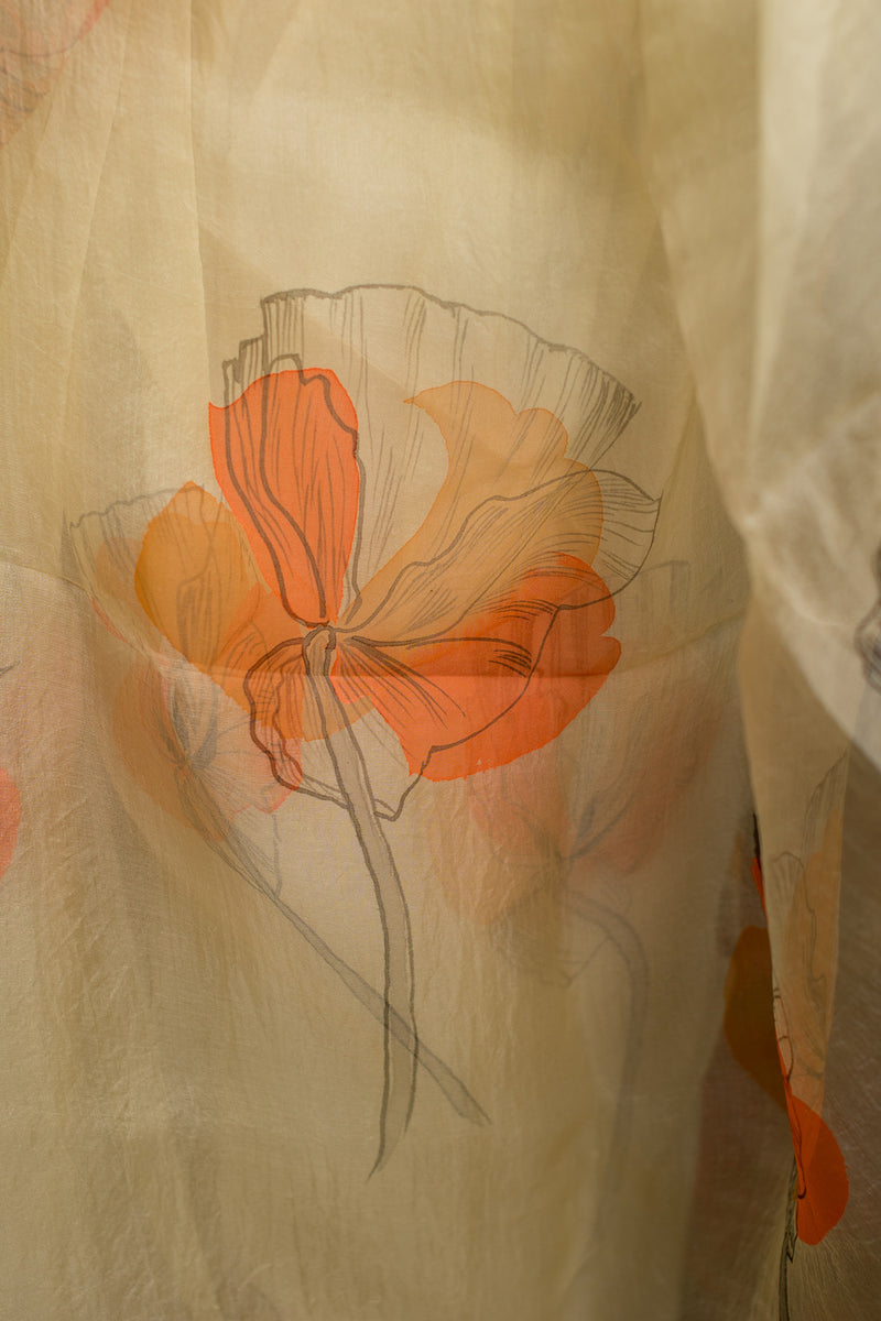 The Sketched Floral Poppy