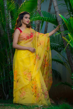 Saffron Yellow Multi Color Floral