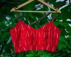 Red Ikkat Blouse -