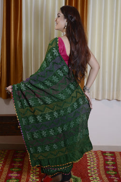 Munga Silk Multi Color Bharti Saree-001