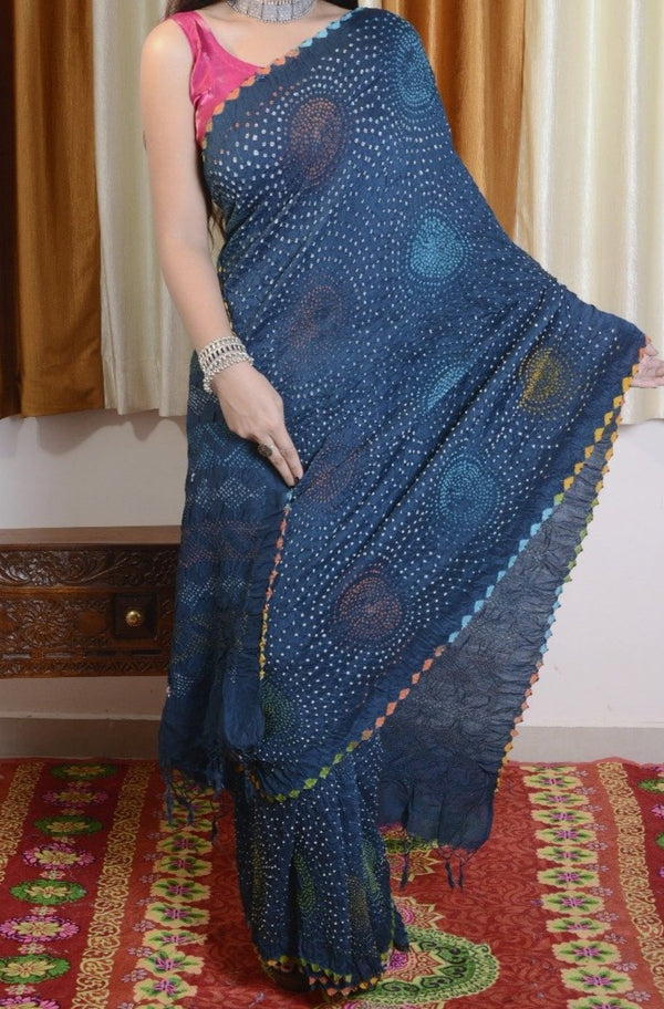 Munga Silk Multi Color Bharti Saree
