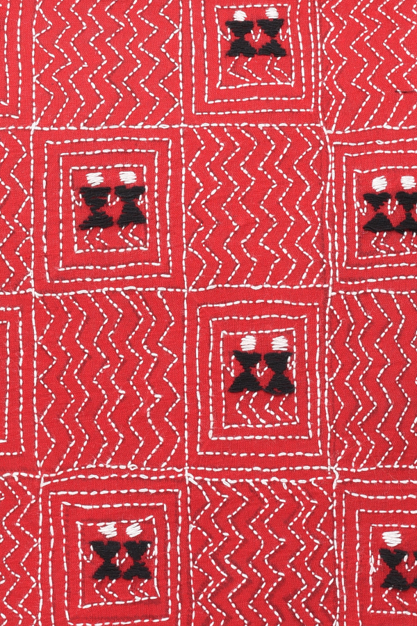 Hand Embroidery in Red and Black