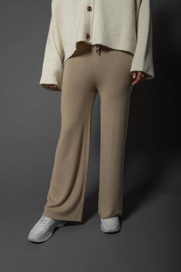Bailey Knit Ripp Pants Beige