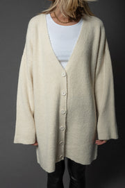 Rita Knit Cardigan Long Ivory