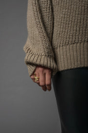 Turtle Knit Sweater Nougat