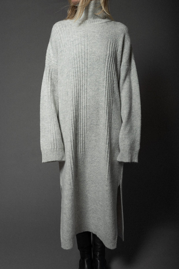 Enya Knit Dress Light Grey