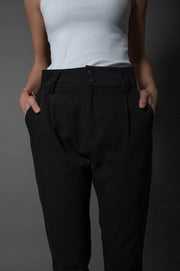 Jade Paperbag Pants Black