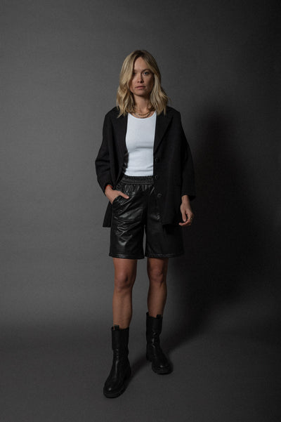 Abby Shorts Vegan Leather Black
