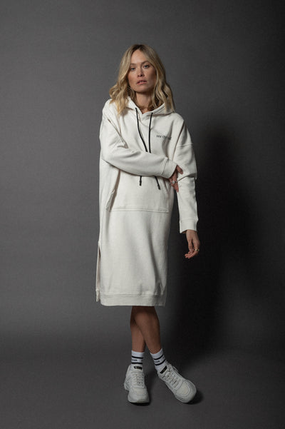 Bella Hoodie Dress White