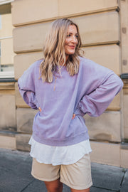 Grace Sweater Acid Washed Purple