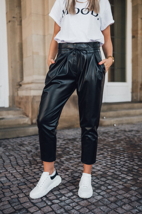 Coco Pants Vegan Leather Black