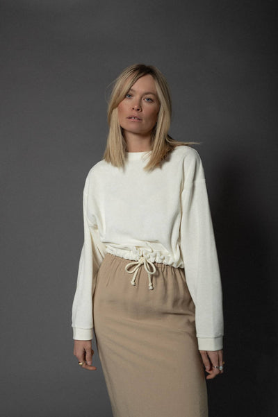 Frottee Sweater Ivory