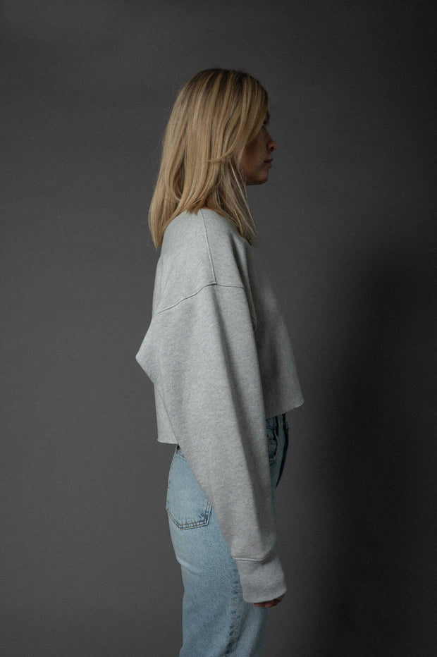 Leni Sweater Cropped Light Grey