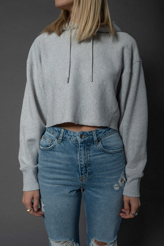 Lou Sweater Cropped Light Grey
