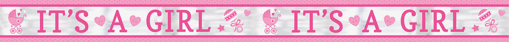 BABY GIRL FOIL BANNER - House of Party Kenya