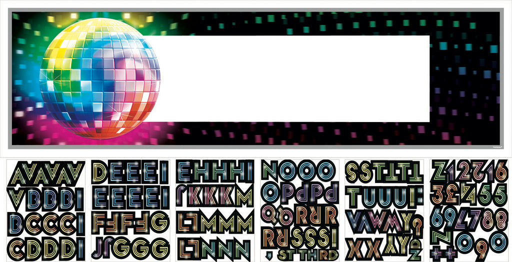 DISCO FEVER PERSONALIZED GIANT SIGN BANNER - House of Party Kenya