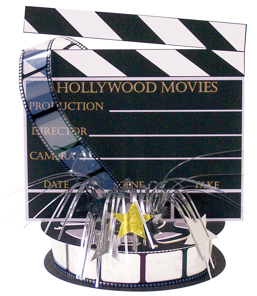 HOLLYWOOD DIRECTOR S BOARD FOIL SPRAY CENTERPIECE 18IN - House of Party Kenya