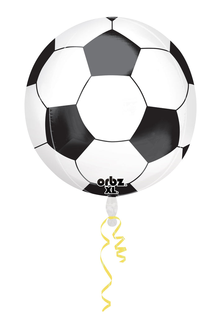 SOCCER BALL ORBZ FOIL BALLOON 15 X 16IN - House of Party Kenya