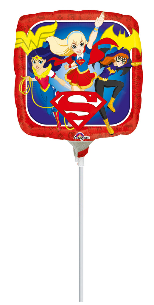 DC SUPER HERO GIRLS SQUARE BALLOON 9IN - House of Party Kenya