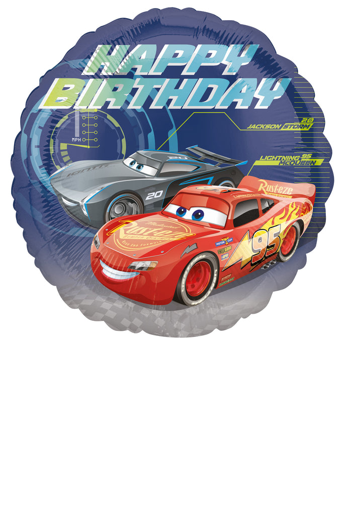 CARS 3 HAPPY BIRTHDAY FOIL BALLOON 18INC - House of Party Kenya