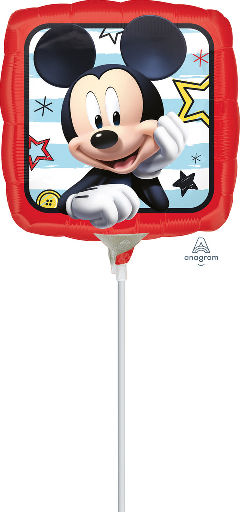 MICKEY ROADSTER SQUARE AIR-FILLED FOIL BALLOON 9in - House of Party Kenya