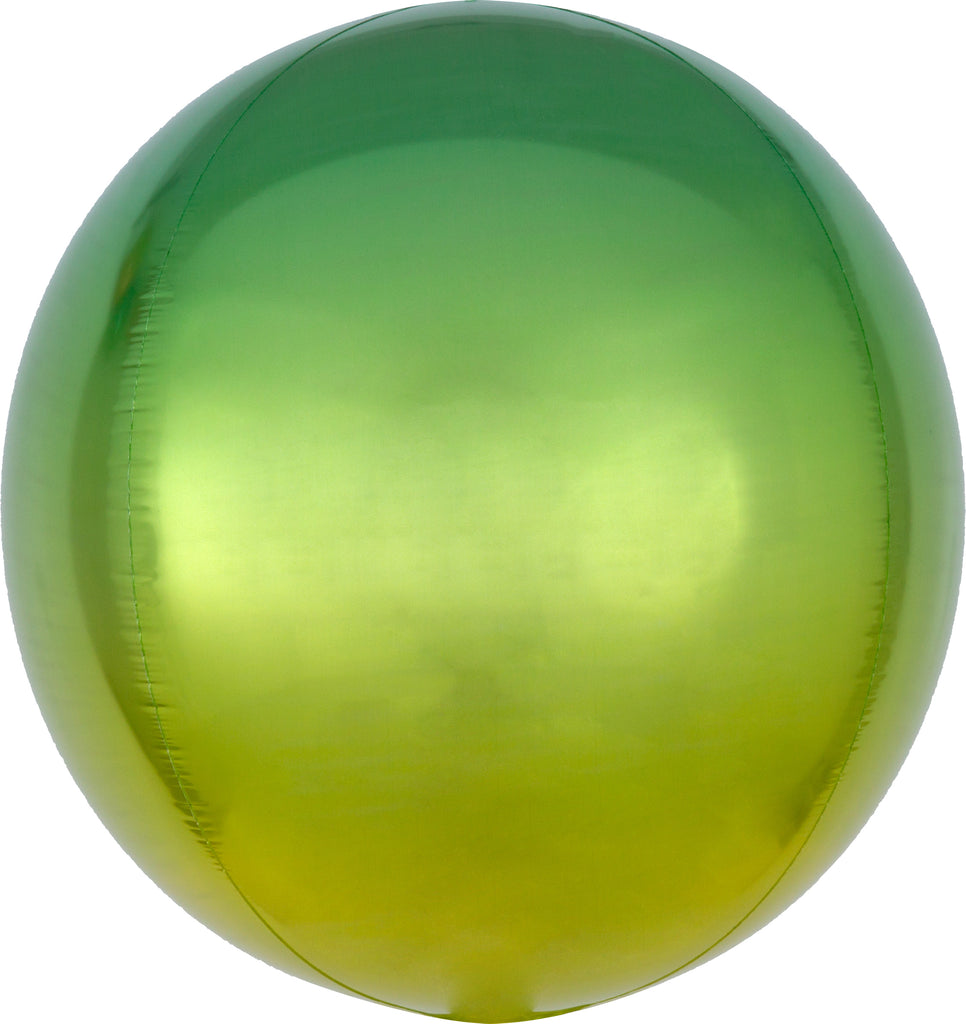 YELLOW & GREEN OMBRE ORBZ FOIL BALLOON - House of Party Kenya