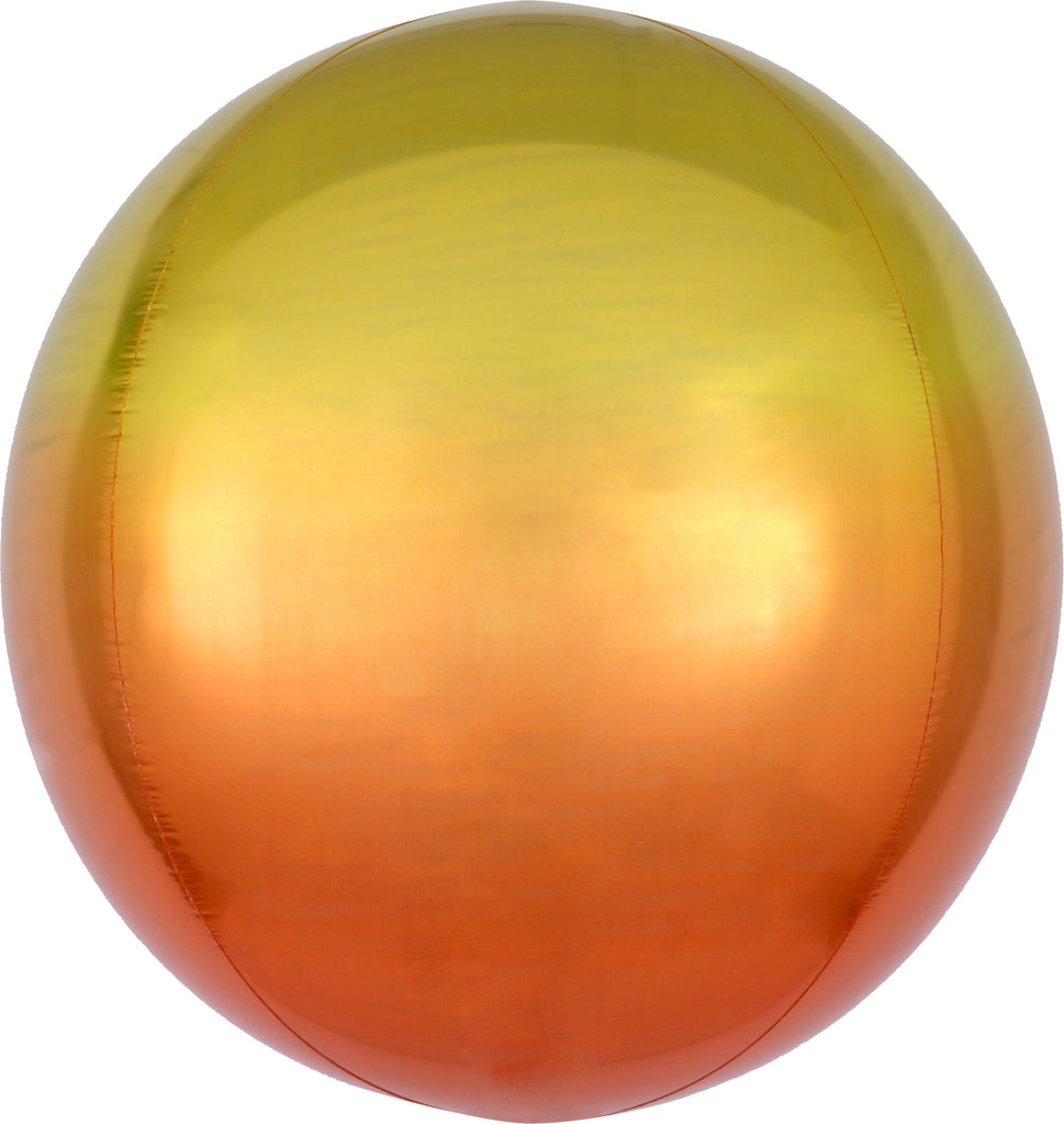 YELLOW & ORANGE OMBRE ORBZ FOIL BALLOON - House of Party Kenya