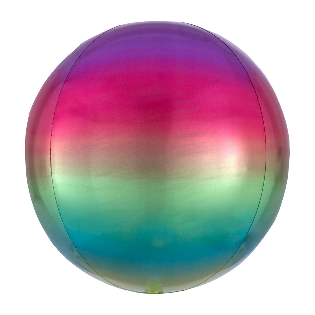 RAINBOW OMBRE ORBZ FOIL BALLOON - House of Party Kenya