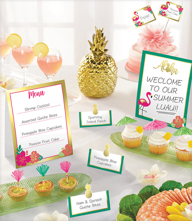 ALOHA MINI BUFFET DECORATING KIT, 12pcs - House of Party Kenya