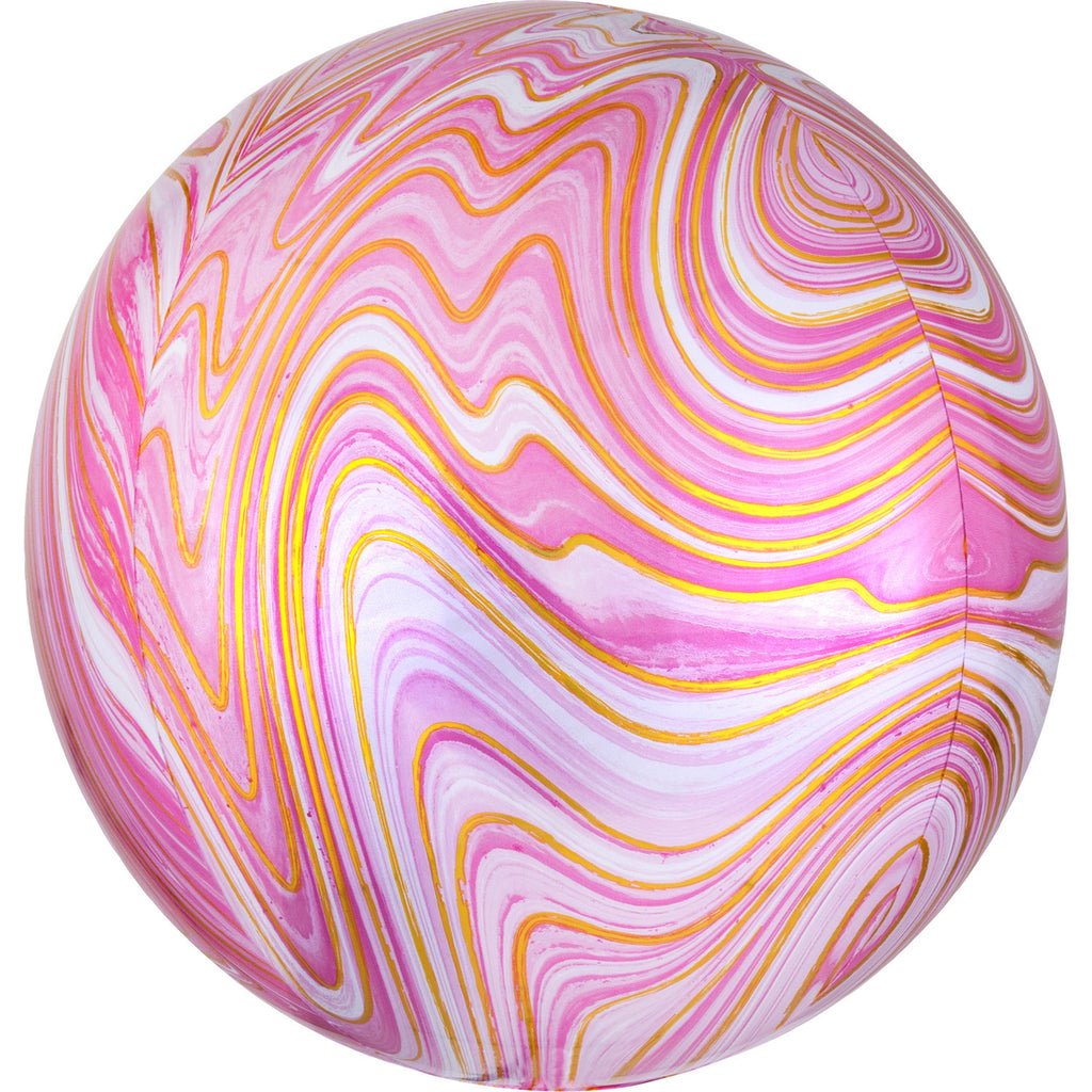 PINK MARBLE ORBZ FOIL BALLOON - House of Party Kenya