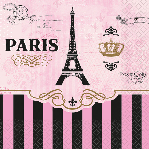 DAY IN PARIS LARGE BEVERAGE NAPKIN - House of Party Kenya