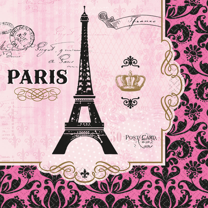 DAY IN PARIS LARGE LUNCH NAPKIN - House of Party Kenya